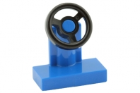 [New] Vehicle, Steering Stand 1 x 2 with Black Steering Wheel, Blue. /Lego. Parts. 3829c1