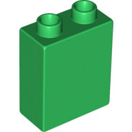 [New] Brick 1 x 2 x 2, Green. /Lego DUPLO. Parts. 4066