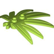 [New] Plant Leaves 6 x 5 Swordleaf with Clip (thick open O clip), Lime. /Lego. Parts. 10884 / 6023832