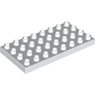 [New] Plate 4 x 8, White. /Lego DUPLO. Parts. 4672
